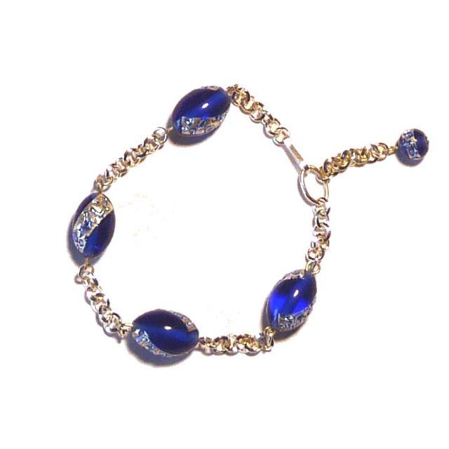Bracelet perles lampwork