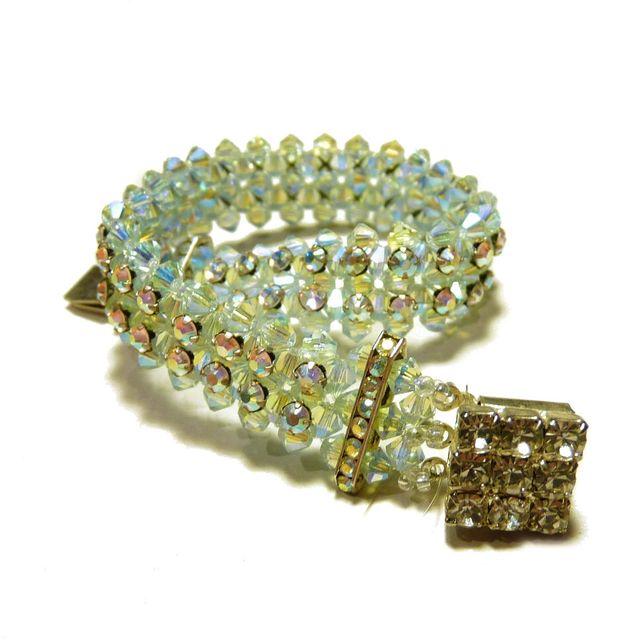 Bracelet en cristal de Swarovski couleur Light sapphire AB2X